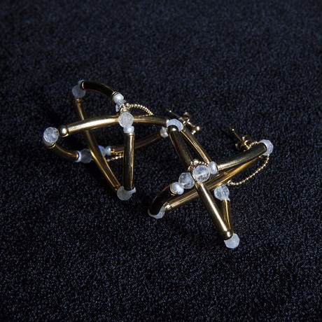 """ATOM"" EARRINGS - GOLD"