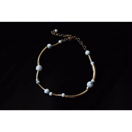 """ORBIT"" CHOKER  -  GOLD / HOWLITE"