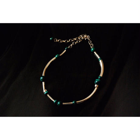 """ORBIT"" CHOKER  -  GOLD / MALACHITE"