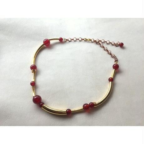 Orbit CHOKER - RED AGATE  x GOLD