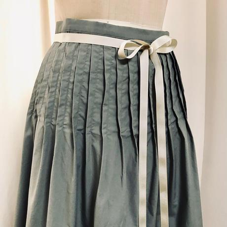 タイプライター タック巻きスカート 211S003 A.カーキベージュ