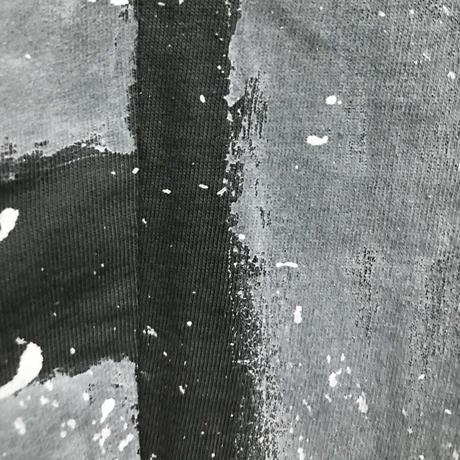 高蔵染ボーダーVネックチュニック/172K037(D.カーキ×オフボーダー&オフシブキ)