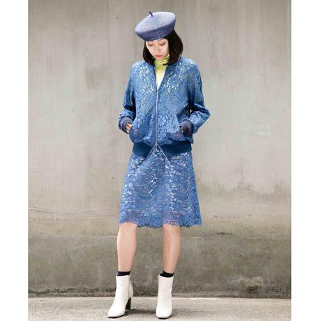 デイジーレースタイトスカート 201S010 B.ブルー