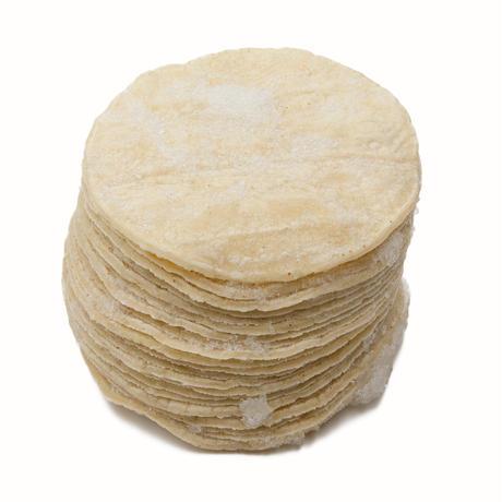 【ケース直送】【代引不可】冷凍3.5インチホワイトコーントルティーヤ ケース販売 24枚入×12