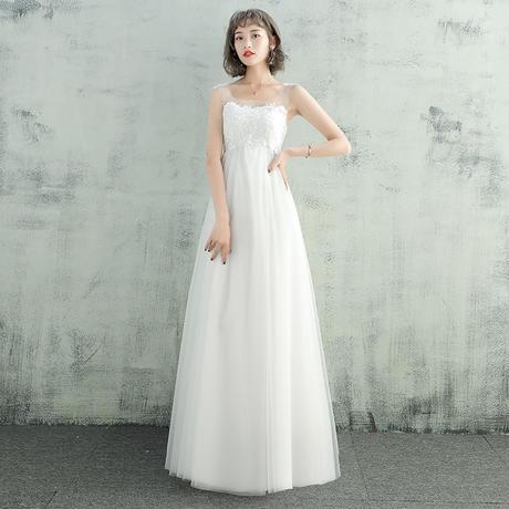 9867c560c62f3 ウエディングドレス*チュール*ほんのりハイウエスト ドレスワンピース結婚式、発表会、 ...