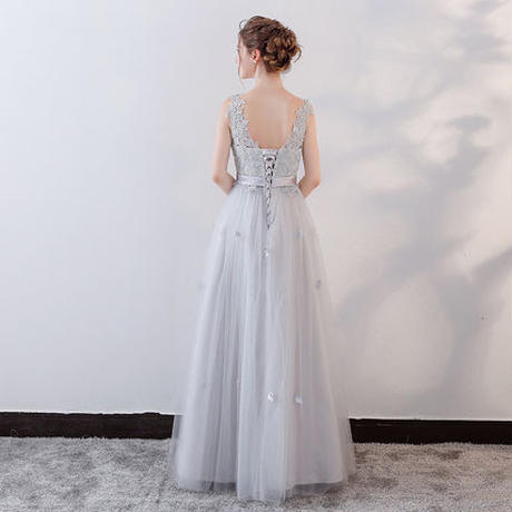 カラードレス*レース*フェミニン*フラワー*ブライズメイド       ドレスワンピース結婚式、発表会、演奏会、パ―ティ