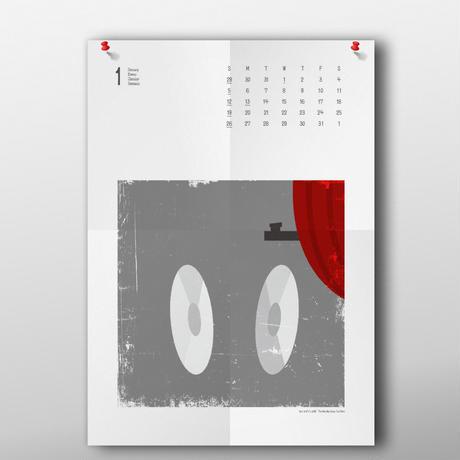 ヒッチコック2020年カレンダー