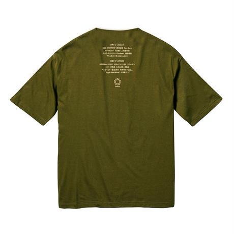 CIRCLE'20 T-Shirts (ビッグシルエットポケット付)【シティグリーン】