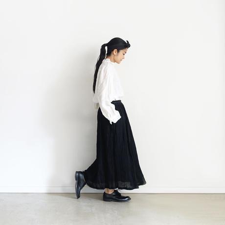 19-0046  Linen Skirt / BLACK