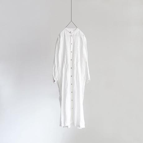 19-0047  Linen Lace Dress / WHITE