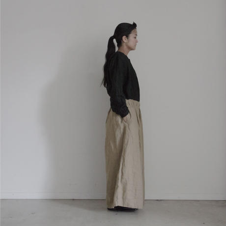 17-0015 Linen Canvas Pants  /  BEIGE