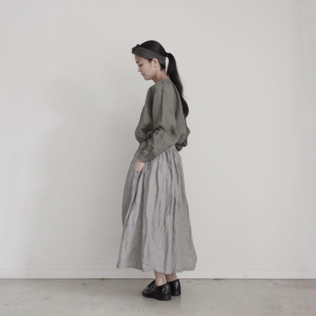 17-0012  Linen Stripe Skirt