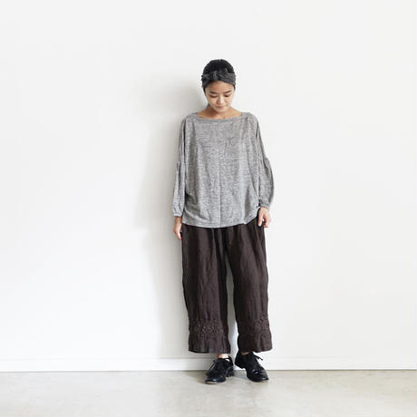 18-0034  硫化染め Linen Lase Pants / BROWN