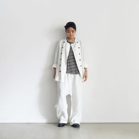 19-0051  Linen  Sarrouel Pants / WHITE