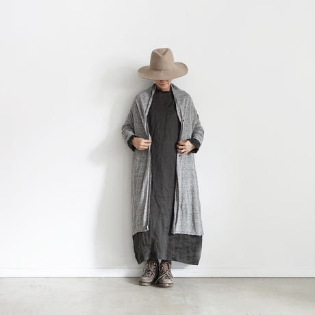 18-0044  Linen Long Cardigan  / GRAY
