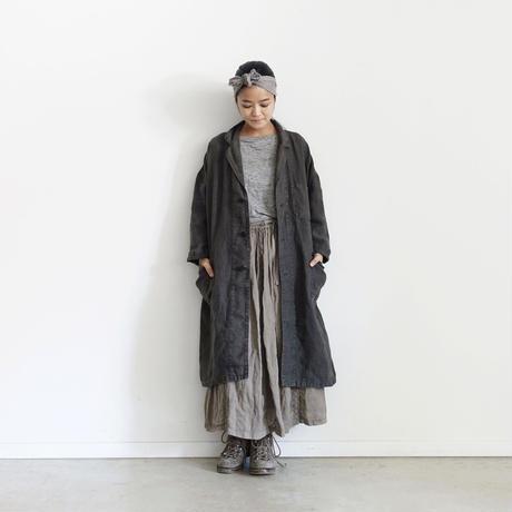 18-0040  硫化染め Linen Atelier Coat / CHARCOAL