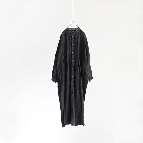 19-0047  Linen Lace Dress / BLACK