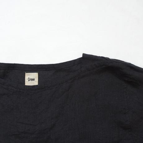 17-0018 Linen Dress / BLACK