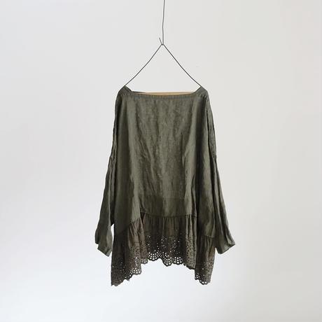 17-0002 Linen Lase Pullover / KHAKI
