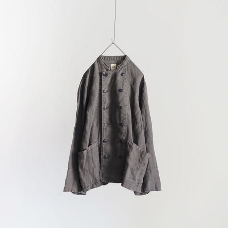 18-0039  硫化染め Linen Patissier Jacket / CHARCOAL