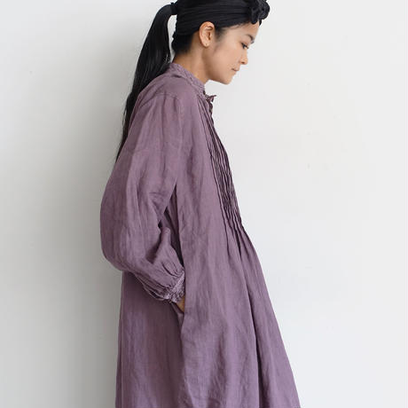 19-0047  Linen Lace Dress / LAVENDER