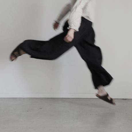 17-0015 Linen Canvas Pants  /  BLACK