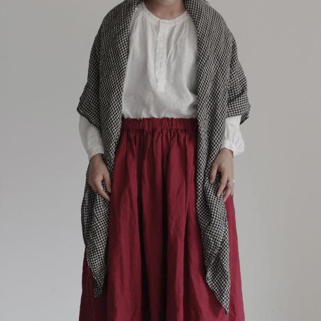 17-0017 Linen Henley Pullover / WHITE
