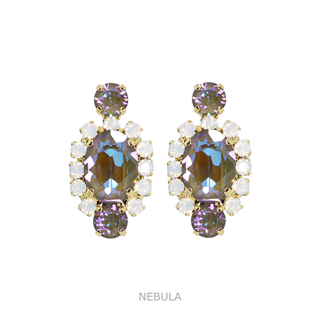 Oval Bijoux Earrings (CANDY & ICY COLOR)