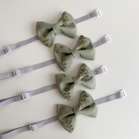 embroidery bow tie