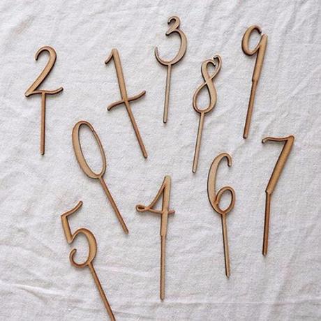 number topper set