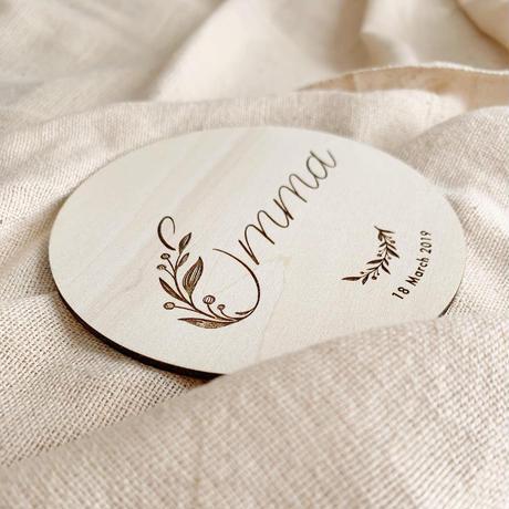 wood ornament leaf