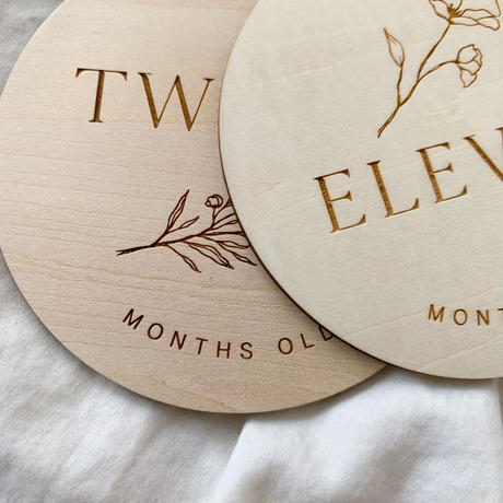 Monthly wooden cards