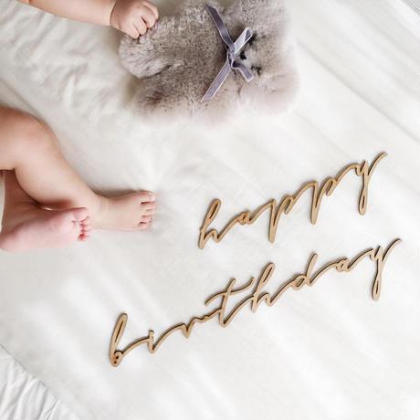 happy birthday set(color natural)