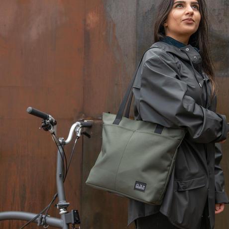 BROMPTON Borough Tote Bag Small in Olive(Tote Bag 9L Olive Green)