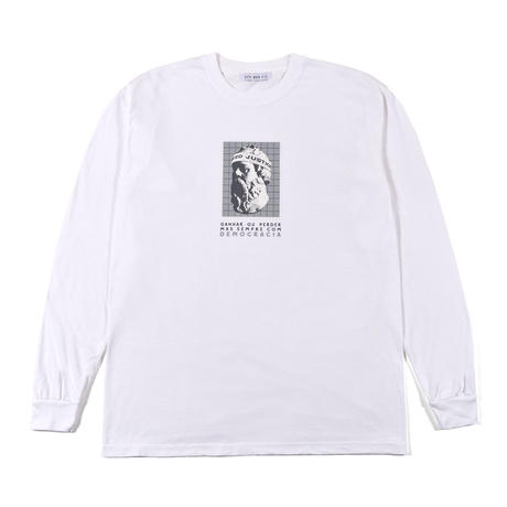 SÓCRATES GARMENT DYED L/S TEE / WHITE