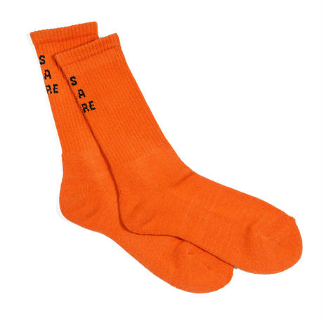"""T'AS D'LA BARRE"" SOCKS / ORANGE"