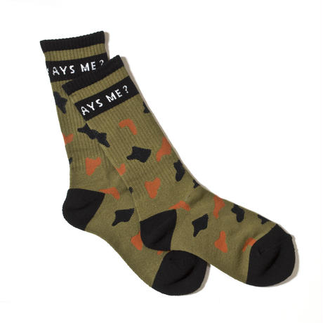 """WHY ALWAYS ME""SOCKS / CAMO"