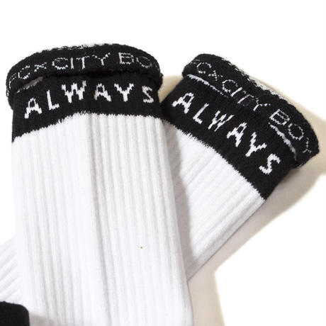 """WHY ALWAYS ME""SOCKS / WHITE"