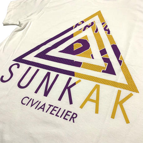 "Civiatelier × SUNKAK CollaborationTeeShirts ""Cali""  WH"