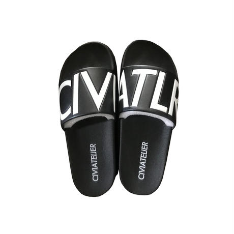 Civiatelier Logo Sandals (数量限定) BLACK×WHITE