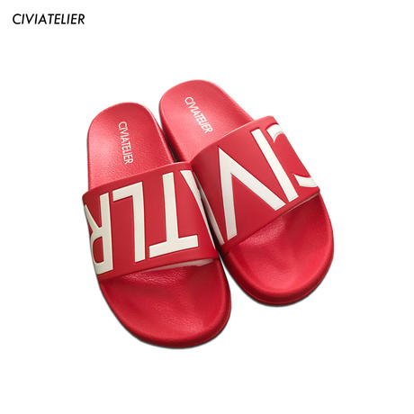 再販 (Limited to 24 hours) Civiatelier Logo Sandals RED