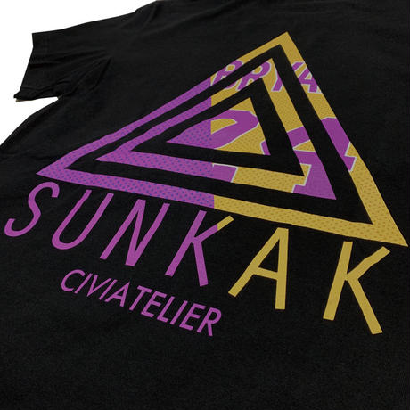 "Civiatelier × SUNKAK CollaborationTeeShirts ""Cali""  BK"