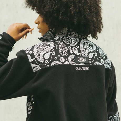 SWISH × CIVIATELIER PAISLEY MICRO FLEECE JACKET