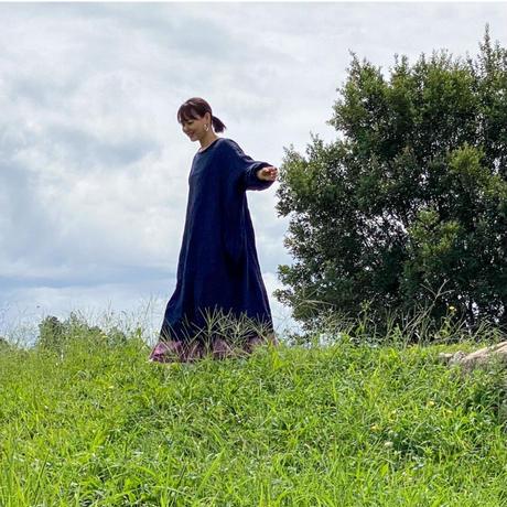 終了しました【予約販売】青山有紀さんX BOUTIQUE  linen atelier coat TA-AP-02 DARK NAVY