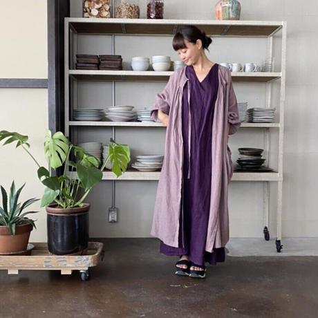 終了しました!【予約販売】【BOUTIQUE】 X 青山有紀さんコラボアイテム  linen atelier coat(割烹着) TA-AP-02  (linen white bag付)