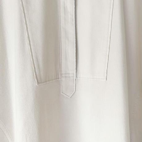 終了しました【予約販売】BOUTIQUEcorduroy x metal shirts dress  TE-3604   OFF WHITE