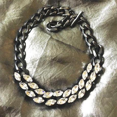 BOUTIQUE  swarovski x chain necklace TZ-2900