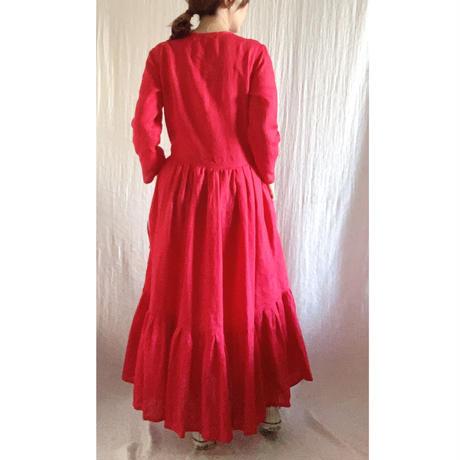 終了しました【予約販売】青山有紀さんx BOUTIQUE  cache coeur dress TA-RW-01(bag 付)  RED