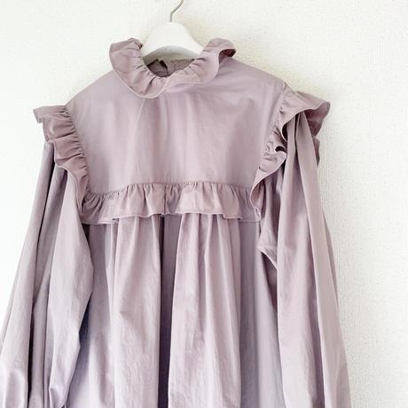 終了しました【予約販売】BOUTIQUE ruffle  long dress TE-3608 / DUSTY MILKY PINK