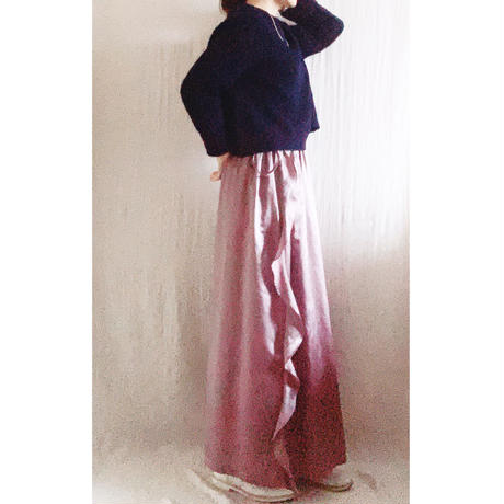 【予約販売】BOUTIQUE  silk cotton side frill skirt TC-3600